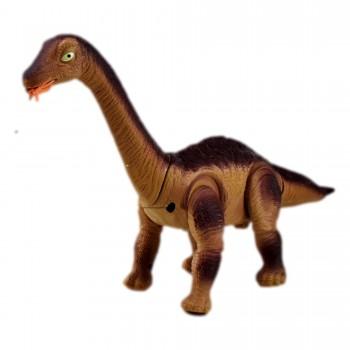 Figurina Dinozaur , face oua, cu functie de proiector, miscare, sunete si lumini, Maro