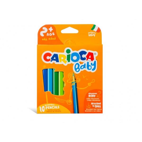 Creioane color Baby 2+ Carioca 10/set