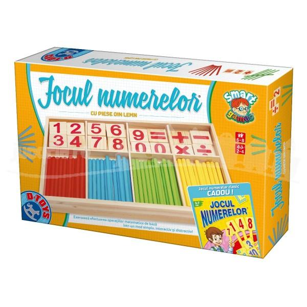 Jocul Numerelor cu Piese din Lemn