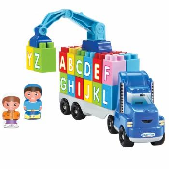 Primul meu camion de jucarie cu cuburi de construit litere de la A la Z