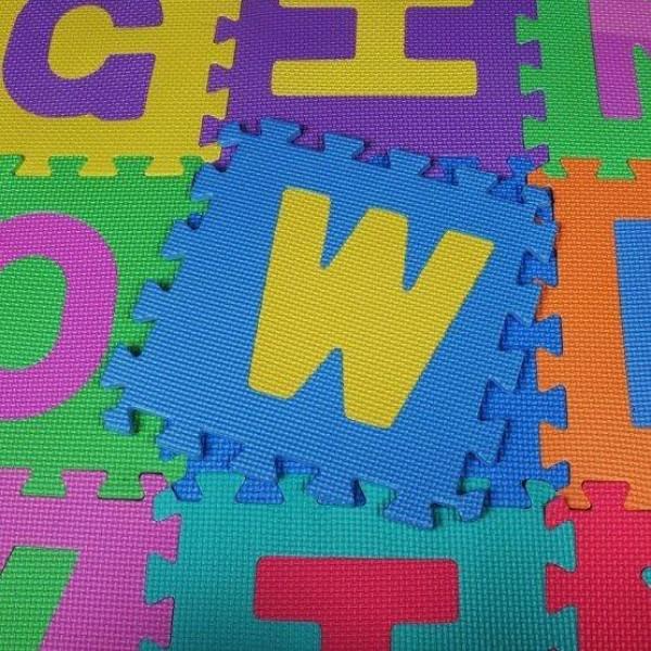 Puzzle Covor din Spuma Eva- Litere, 10 piese 29 x 29 cm