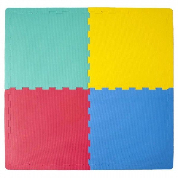 Puzzle Covor din Spuma Eva, 4 piese 60 x 60 cm, multicolor