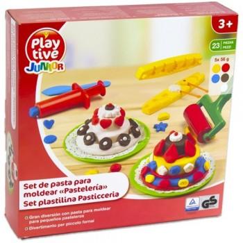 Set creativ pentru modelarea prajiturilor din plastilina