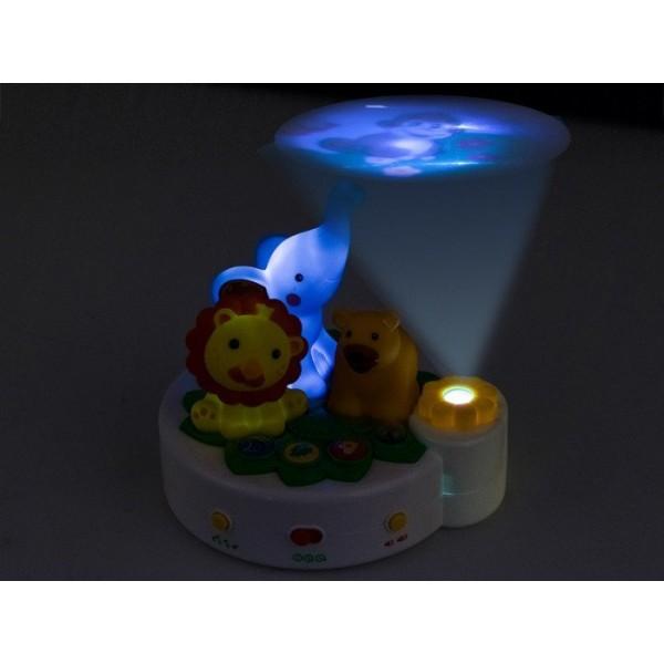 Proiector muzical cu lampa de noapte si telecomanda