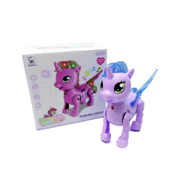 Unicorn Plimbaret cu Muzica si Lumini
