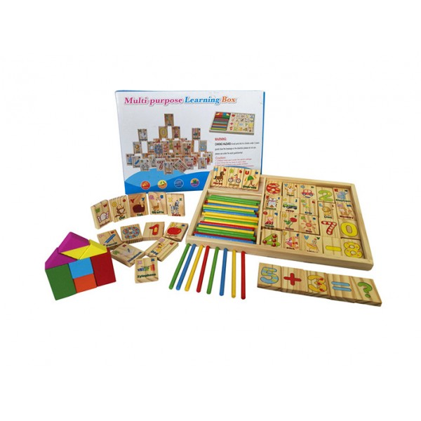 Cutie Educativa cu piese din Lemn