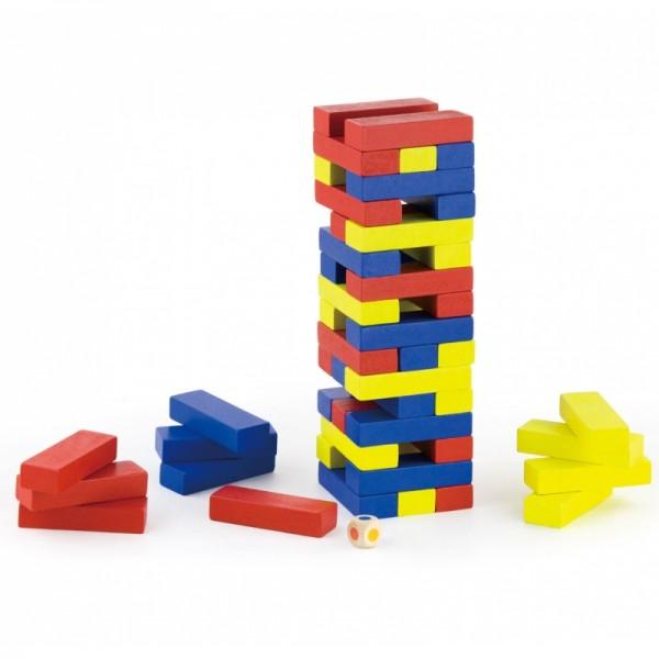 Joc Turnul Colorat din Lemn cu 48 de piese