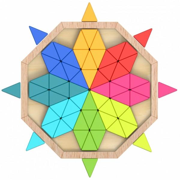 Puzzle Octogon din Lemn Tooky Toy
