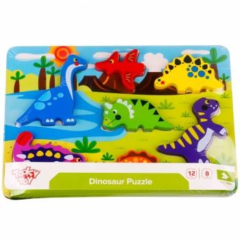 Puzzle Incastru din lemn - Dinozauri