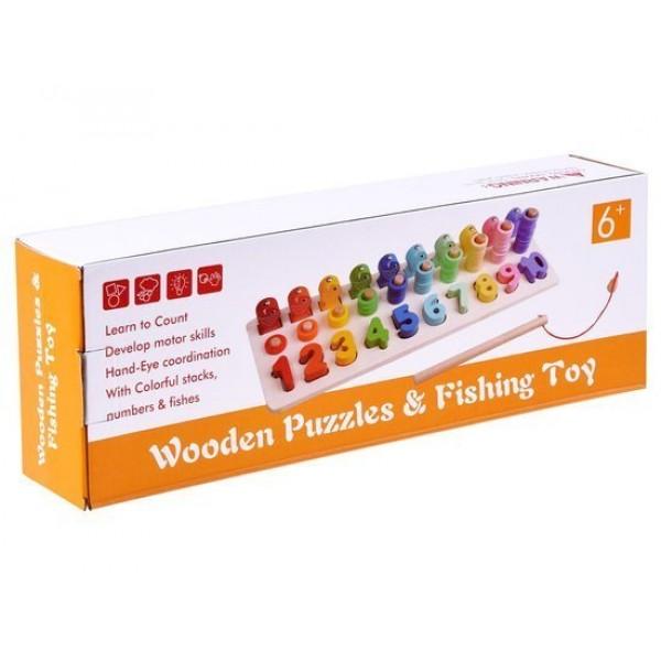 Joc Puzzle Educativ din Lemn