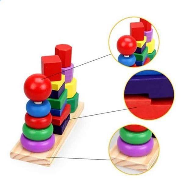 Jucarie de Sortare, Potrivire si Stivuire Forme Geometrice