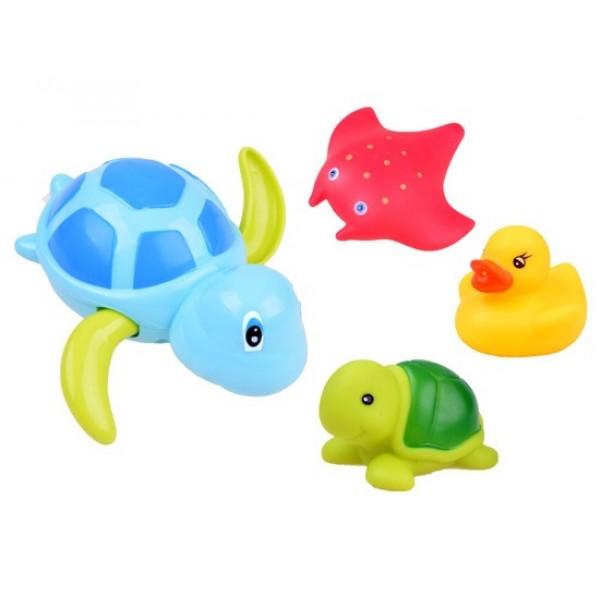 Animale Colorate - Jucarii de Baie 4 Buc