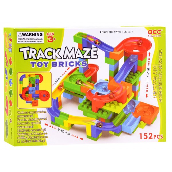 Joc de Constructie cu Circuit Bile Track Maze