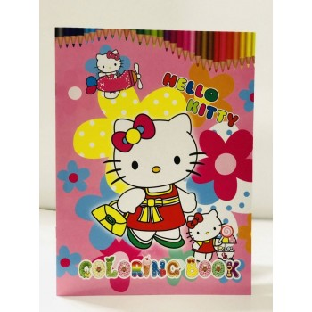 Carte de colorat si stikere - Hello Kitty