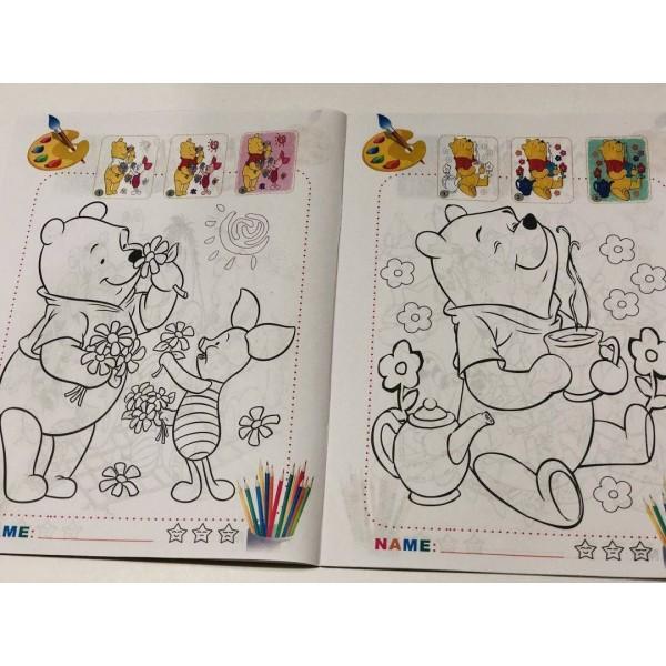 Carte de colorat si stikere - Winnie-the-Pooh