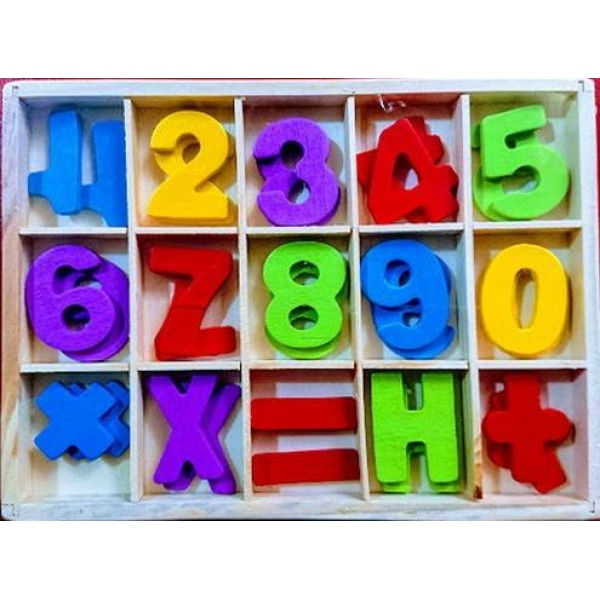 Cifre din lemn, 30 buc