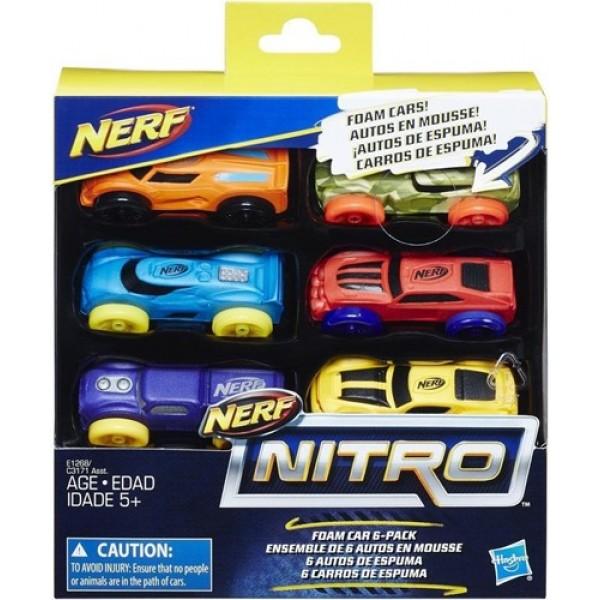 Set Nerf Nitro, pachet 6 masinute