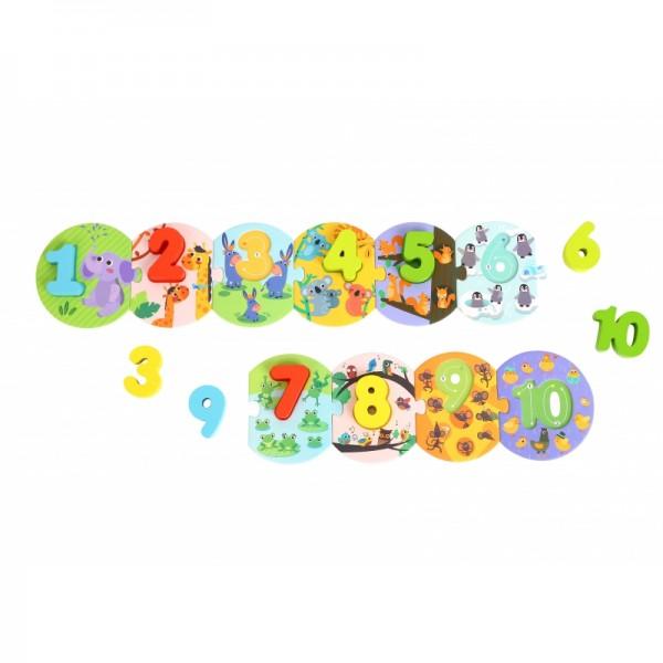Puzzle educativ din Lemn - Invatam sa numaram