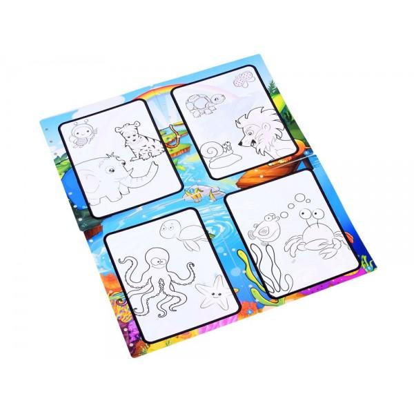 Carte de colorat cu apa - Animalute vesele