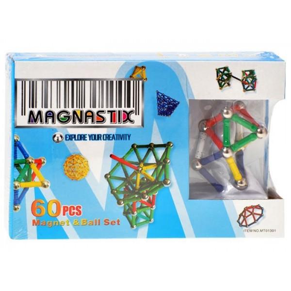 Joc magnetic Magnastix 60 piese