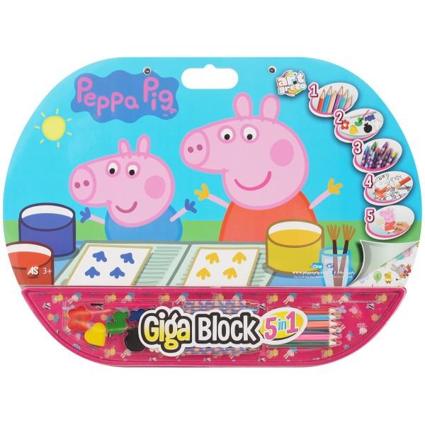 SET PENTRU DESEN 5IN1 GIGABLOCK PEPPA PIG