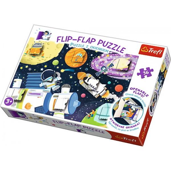 PUZZLE TREFL 36 FLIP FLAP CALATORIE IN SPATIU