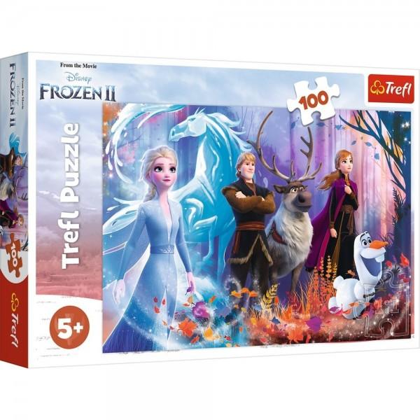 PUZZLE TREFL 100 FROZEN2 LUMEA MAGICA