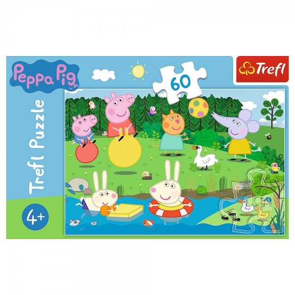 PUZZLE TREFL 60 PEPPA PIG DISTRACTIE IN VACANTA