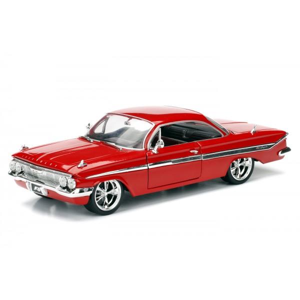 Masinuta Metalica Fast and Furious 1961 Chevy Impala Scara 1 la 24