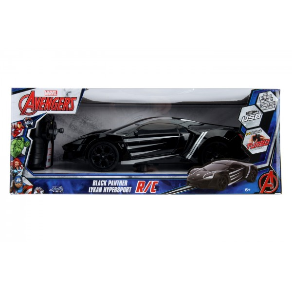 Masinuta Radiocomandata Black Pather Lykan Scara 1 la 16