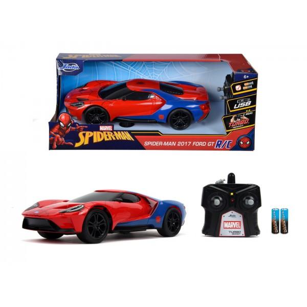 Masinuta Radiocomandata Spiderman 2017 Ford GT Scara 1 la 16