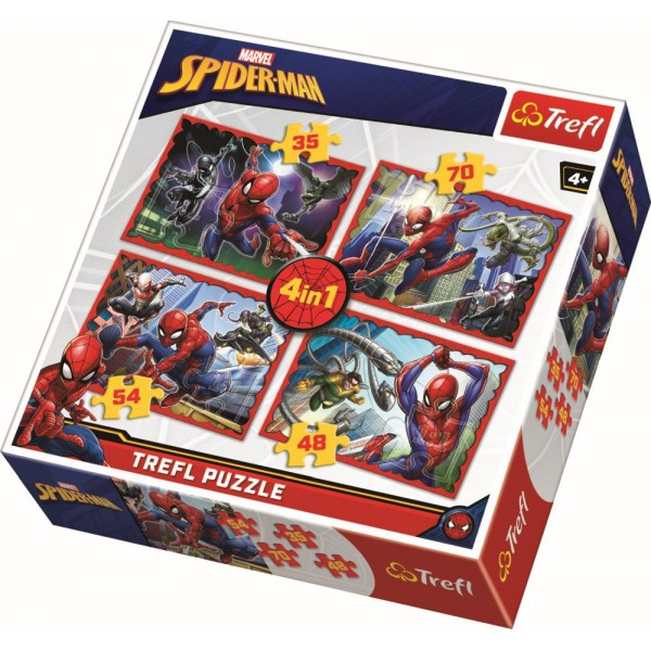 PUZZLE TREFL 4IN1 IN SPIDERMAN