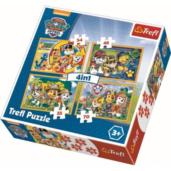PUZZLE TREFL 4IN1 INTOTDEAUNA LA TIMP