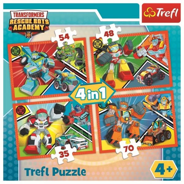 PUZZLE TREFL 4IN1 ACADEMIA TRANSFORMERS