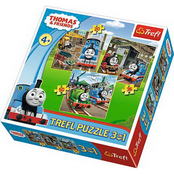 PUZZLE TREFL 3IN1 THOMAS INTRA IN ACTIUNE