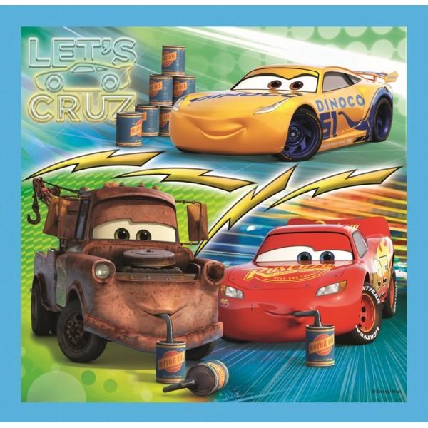 PUZZLE TREFL 3IN1 CARS PREGATIRI PENTRU CURSA