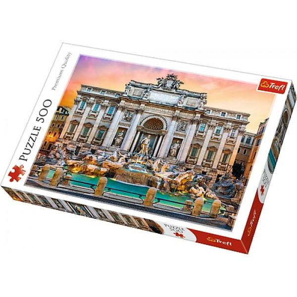 PUZZLE TREFL 500 FONTANNA DI TREVI ROMA