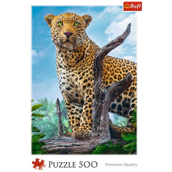 PUZZLE TREFL 500 LEOPARD IN SAVANA