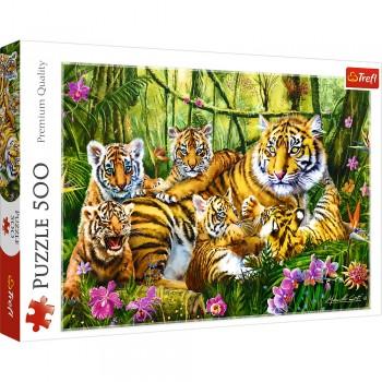 PUZZLE TREFL 500 FAMILIE DE TIGRI