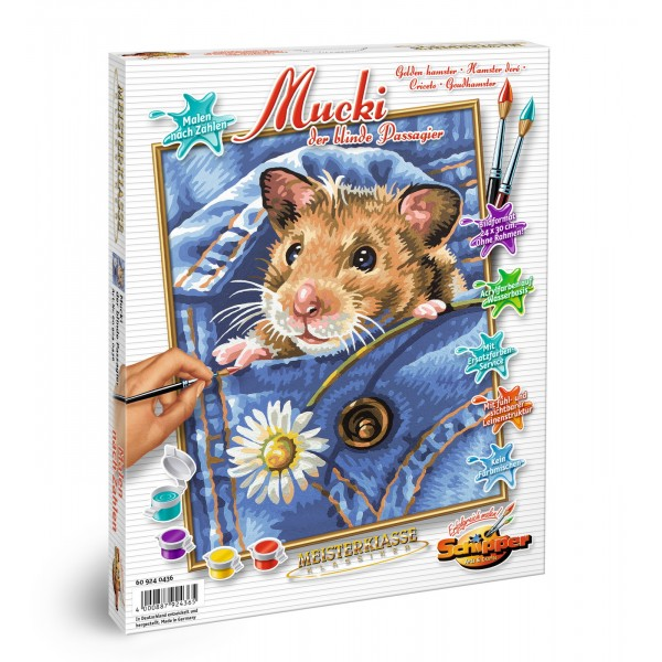 KIT PICTURA PE NUMERE SCHIPPER MUCKI UN HAMSTER PASAGER