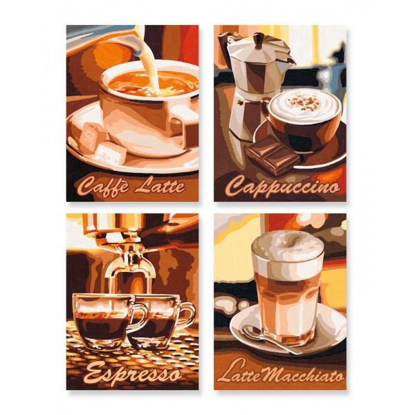 KIT PICTURA PE NUMERE SCHIPPER QUATRO PAUZA DE CAFEA