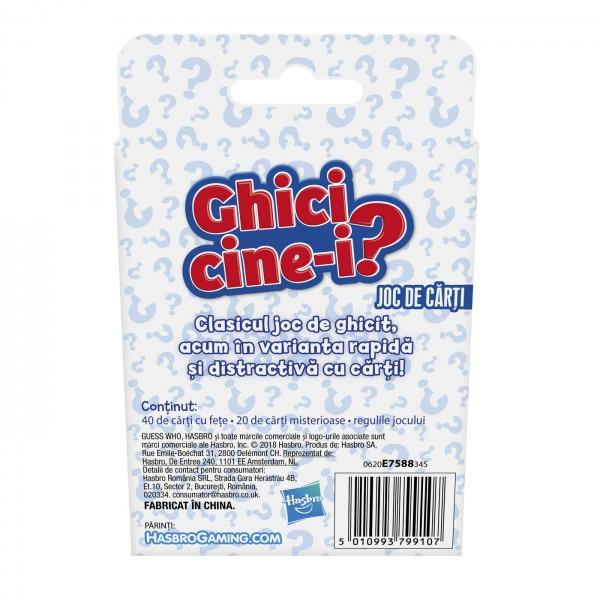 GHICI CINE-I? JOCUL CLASIC CU CARTI IN LIMBA ROMANA