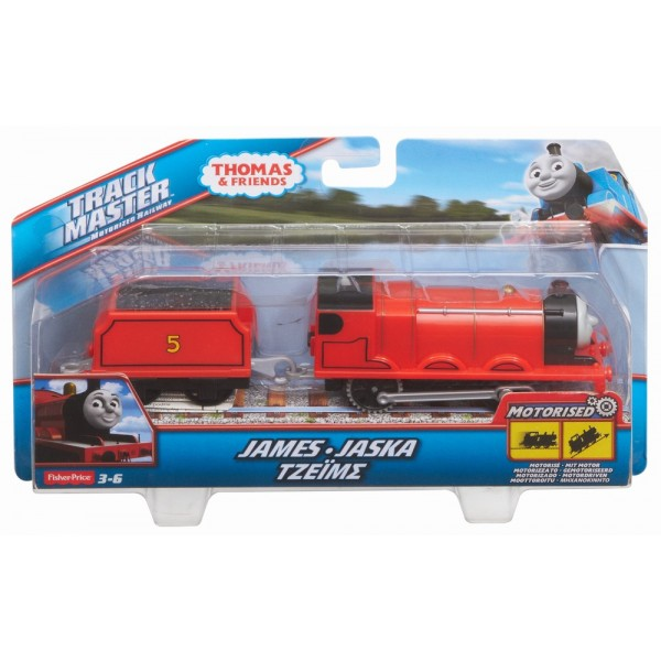 THOMAS TRACKMASTER LOCOMOTIVA JAMES CU VAGON