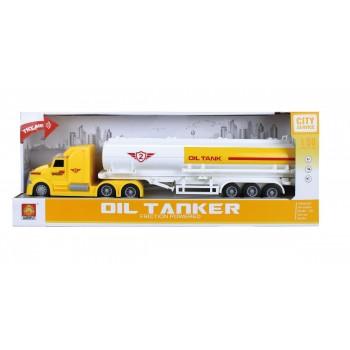 Camion Cisterna Transport Combustibil Frictiune Lumini si Sunete Scara 1 : 50